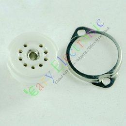 9pin Ceramic vacuum tube socket mount for 12AX7 12AU7 6N11 ECC83 audio amplifiers radio parts DIY