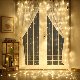 Wholesale 110V 220V 4M x 4M 512 LED Outdoor Indoor Curtain Light Party Christmas Decoration String Wedding  Hotel Festival Free Shipping