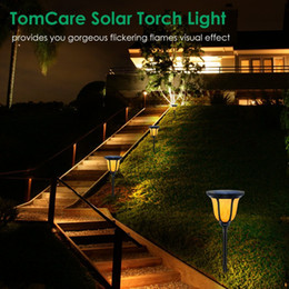 Solar lights outdoor landscape garden torch flame torch wall lamp 96led street lamp garden ground lawn lamp