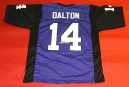 49d3453ae46d Cheap retro  14 ANDY DALTON CUSTOM TEXAS CHRISTIAN HORNED FROGS JERSEY TCU  purple Mens Stitching Size S-5XL Football jerseys