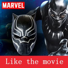Wholesale-Black Panther Masks Movie Fantastic Four Cosplay Men's Plastic Party Mask for Halloween Barrier Captain mask Movie and TV props