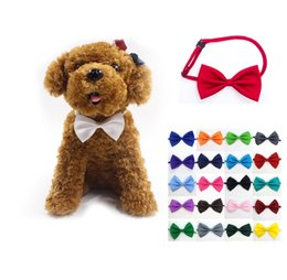 Pet dog bow tie adjustable collar neck accessory necklace puppy pet bow mix color