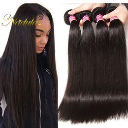 Nadula Peruvian Virgin Hair 3 Bundles 100% Human Straight Hair Bundles Remy Human Hair Extensions Wholesale Weaves Cheap Unprocessed