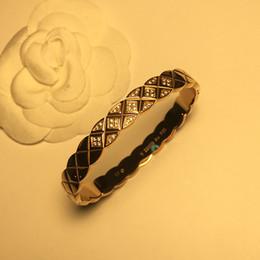 CC plaid smooth micro-adhesive titanium steel bracelet bangle Foreign trade hot-selling titanium steel jewelry bracelets