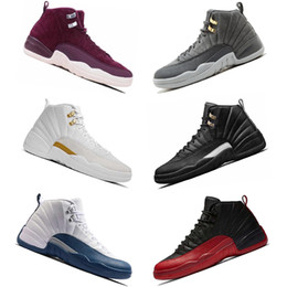 New 12 12s men Basketball Shoes Dark grey Gym red taxi Flu Game playoffs French blue the master for mens trainers sports Sneakers