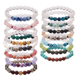 5 Styles MOJO Hot Sale Womens Fashion 8MM Natural Beads Bracelet Beautiful Hnadmade Gift Bracelet MJ-BB031