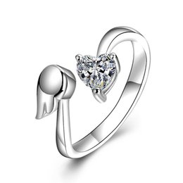 Hot Sell Fashion Classic Luxury 925 Sterling Silver Ring Hearts Zircon Wedding Jewelry Rings Engagement For Women