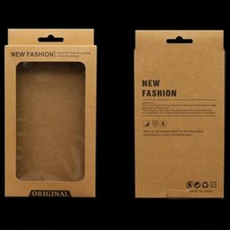Kraft Brown Retail Package Pack Box inner holder for PU Leather Phone case iPhone X 7 8 PLUS Galaxy S7 Egde S8 S9