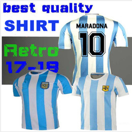 Retro Version 1986 Argentina Retro home Soccer jersey 10 Messi Maradona CANIGGIA 1978 Quality Football Shirt uniforms Football Jerseys shirt