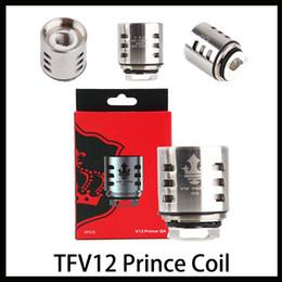 TFV12 Prince Coil Q4 X6 T10 M4 Mesh Strip Massive Vapor Vape Replacement Coil Head For Cloud Beast Tank Free Shiping