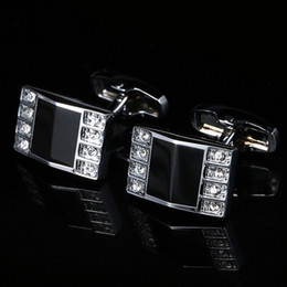 New French Cufflinks Cufflinks Silver Cuffed Shirt Cufflinks Uniform Metallic Clothing Jewelry Free Shipping