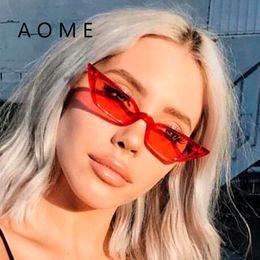 AOME 2018 Cat Eye Luxury Vintage Sunglasses Women Brand Designer Sun Glasses Retro Small Red Ladies Sunglass Black Eyewear Oculos