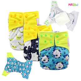 MABOJ New Baby Cloth Diapers Adjustable Cartoon Foxes Cloth Nappy Washable Waterproof Reusable Babies Pocket Nappies