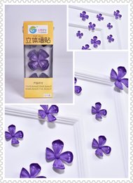 (Promotion: Buy 1 get 1 free)Flower 3D Wall Stickers Purple color(12pcs box)