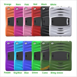 3 In 1 Soft Robot Defender Silicone Hybrid PC Hard Case Cover For New IPad 9.7 2017 IPad Air 1 2 Pro-9.7 Mini 123 4 T280 T350 T580