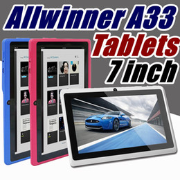 2018 Q88 7 inch Android 4.4 Allwinner A33 Capacitive Screen Quad Core 512MB 8GB Dual Camera External Tablet PC for gift A-7PB