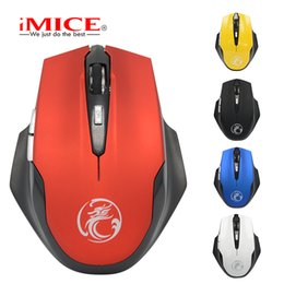 iMice Silent Ergonomic 2.4GHz 6 Buttons Opto-electronic Wireless Mouse Cordless PC Computer Gaming Mouse Mice Computer Office