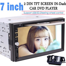 7'' Double DIN In Dash gps navigation car Dvd Player Car Stereo Headunit Touch Screen Bluetooth USB Sd Mp3 AM FM Radio Receive
