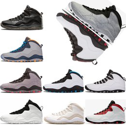 Men Basketball shoes 10 10s Cement Westbrook X I'm back Bobcats Chicago Cool Grey Powder Blue Steel Grey black white sport Sneakers 41-47