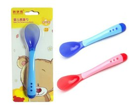 Bear baby soft head spoon for more than 3 months baby temperature sensitive spoon single feeding tableware