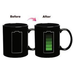 Ceramic mug color changing mug milk coffer cup bone china heat sensitive mug 75 degree cup 330ml gift couple cups
