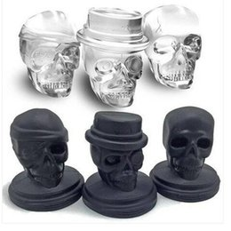 Kitchen Tools Skull Shape 3D Ice Cube Mold Maker Bar Party Silicone 3 in Ice Cream Tools Kitchen, Dining & Bar 1 Ice Cream Tools