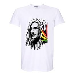 bob marley rasta reggae leaves rasta fashion digital printing t shirt vintage band tee men women size tops 1 from sale