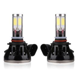 2pcs Car styling G5 H13 LED Car Conversion Kit Cob Bulbs Hi Lo Replace Car Head Fog DRL Light white 6000K