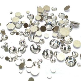 1000pcs packs Mixed size Clear Crystal Glass Rhinestones Nail Art Rhinestones For Nails 3D Nail Art Decorations Manicure Accessories