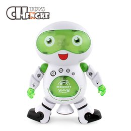 New Hot Fashion Dancing Robot Action Toy Kids Hobbies Toy Musical Flashing Electric Robot Model Toy Gifts