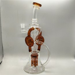 Recycler Bong Glass Dab Rig Water Pipe Bong Clear Smoking Pipe Bend Tube Popul Water Bong Oil Rig Bowl Pipe