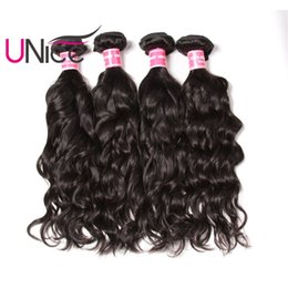 UNice Hair Virgin 4 Bundles Brazilian Natural Wave Human Hair Bundles Unprocessed Wholesale Cheap Human Hair Weave Bundle Wet And Wavy