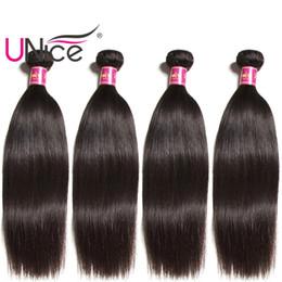 UNice Hair Virgin Human Hair 4 Bundles Indian Straight Bundle Wholesale Silk Brazilian Straight Hair Weaves Cheap Nice Bulk Peruvian Remy