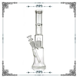 Mobius Glassworks Clear Nano With Matrix Perc 13inches heights 60mm bubbler matrix bong Glass bongs Water Pipes 18mm Pipe dome birdcage perc