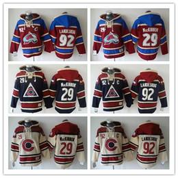 Colorado Avalanche Hockey Men Jerseys 9 Matt Duchene 29 Nathan MacKinnon 33 Roy 92 gabriel landeskog Hoodie Hooded Sweatshirt Jackets Jersey