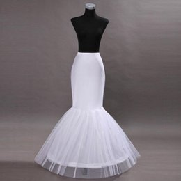 Cheap In Stock One Hoop Flounced Mermaid Petticoats Bridal Crinoline For Mermaid Wedding Prom Dresses Wedding Accessories CPA201