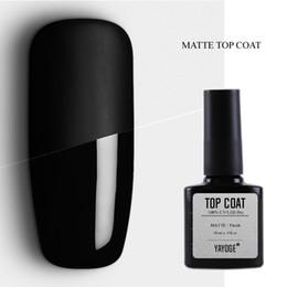 YAYOGE Clear Matte Top Coat Soak Off UV Gel Polish UV LED Dry 10ml Nail Art DIY