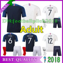 2018 pogba soccer Jersey World Cup home adult kit PAYET DEMBELE MBAPPE GRIEZMANN KANTE COMAN 18 19 national team men Away football shirts