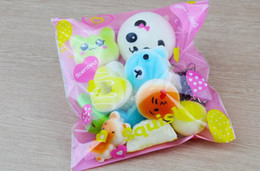 10Pcs Jumbo Medium Mini Random Squishy Soft Panda Bread Cake Buns Phone Straps Best Wholesale Price