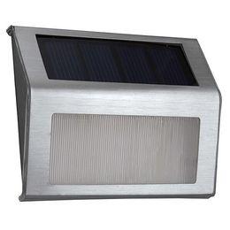 Stainless Steel 3LED Solar Powered LED Wall Lamp Waterproof Outdoor Garden Corridor Stair Lights Emergency lighing