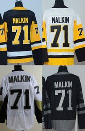 2016 New Retail Factory Price Cheap 2015 Old Time 71 Evgeni Malkin Hockey uniforms 100% Embroidered swearsport jerseys