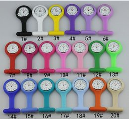 Multi colors nurse brooch Fob tunic watch silicone cover nurse watch 200pcs lot free shipping-yoyowatch2013