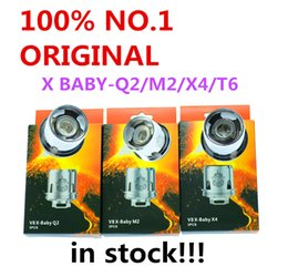 300% Authentic TFV8 X-Baby Coil Q2 0.4ohm M2 0.25ohm X4 T6 Dual Coils Replacement Head For TFV8 X-Baby Tanks Genuine