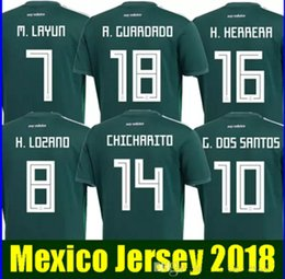 Thailand MEXICO SOCCER JERSEYS 2018 world cup CHICHARITO CHUCKY LOZANO DOS SANTOS HERRERA LAYUN Mexico football shirt camisetas de futbol