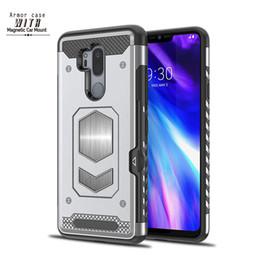 car holder mount magnetic suction case for LG G6 V30 Q6 Q8 LV3 LV5 K8 K10 2017 Back Cover Shockproof Shell