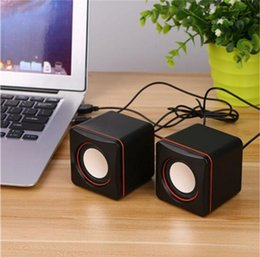 Portable Mini Speaker 3.5mm Wired Desktop Laptop Speakers Multimedia USB Computer Loudspeaker Super Bass Music Player free shipping 2018 new