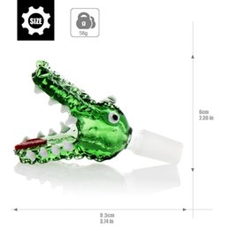 Design Bong Crocodile Heads Bowl Piece 14mm 18mm Joint Adapter Brands Bongs Dab Nail Oil Rigs Water Pipes Accessories Hookahs Beaker Percs