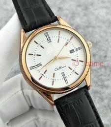 2018 Nuevo Top Luxury Brand Gold White Leather Sports Hombre Relojes Reloj de cuarzo Hora Reloj Sport Reloj de pulsera Relogio automático