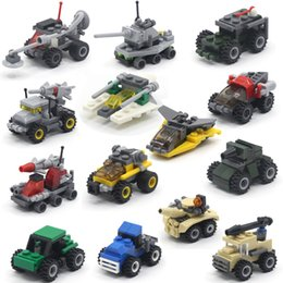 Various Cars Building Blocks Minifig Fire truck police car Mini Figure Toys Ninja figures crane Raytheon Reconnaissance car tank Excavator