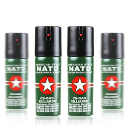 Nato Self-Defense Pepper Spray 60ml Oc Spray Tear Gas Outdoor Camping Hiking Survival Equipment Lady EDC Tools